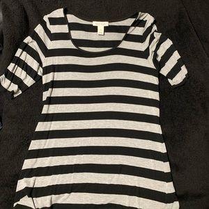 White House Black Market - Black & Gray Stripe 👚